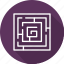 business, elements, labyrinth, maze, mordern icon