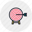 arrow, business, goal, hit, market, success, target icon