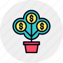 finance, financial, growth, money, profit, rise, tree icon