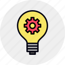 develop, light, startup, idea, innovation, bulb icon