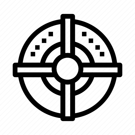 arrow, point, strategy, target icon