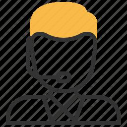 avatar, call, center, customer, person, service, user icon