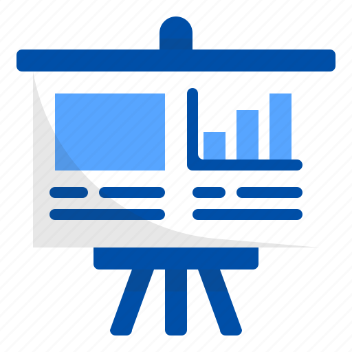 board, business, finance, graph, meeting, presentation, sale icon
