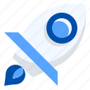 business, forward, growth, moving, rocket, startup icon