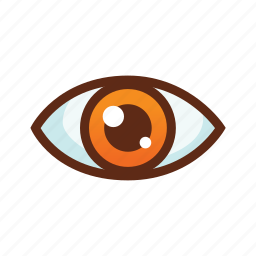 business, circle, colors, eye, look, vision, watch icon