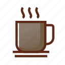 break, break time, business, coffee, colors, glass, tea icon