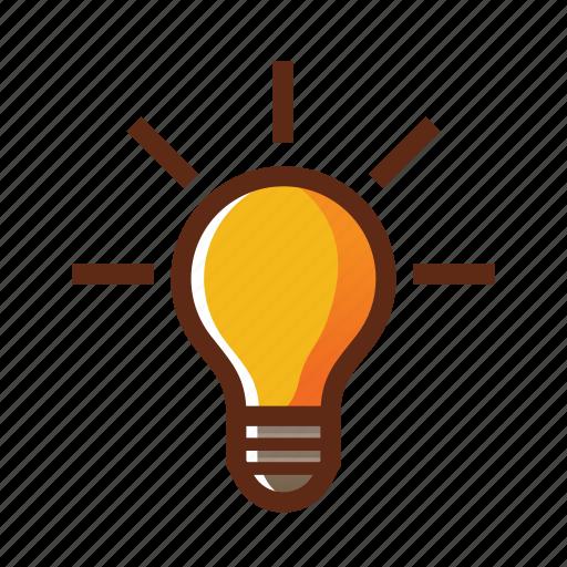 bulb, business, colors, idea, light, solution icon