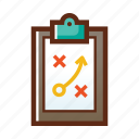 business, colors, goal, planning, strategy icon