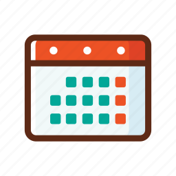agenda, business, calendar, colors, schedulle icon