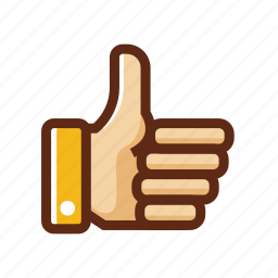 business, colors, good, like, nice, thumbs up icon