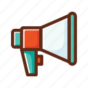 business, colors, loudspeaker, online, promoting, promotion, speaker icon