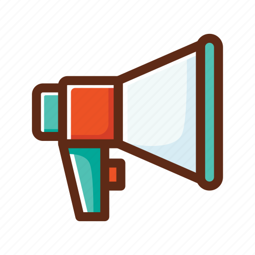 business, colors, loudspeaker, online, promoting, promotion, speaker icon