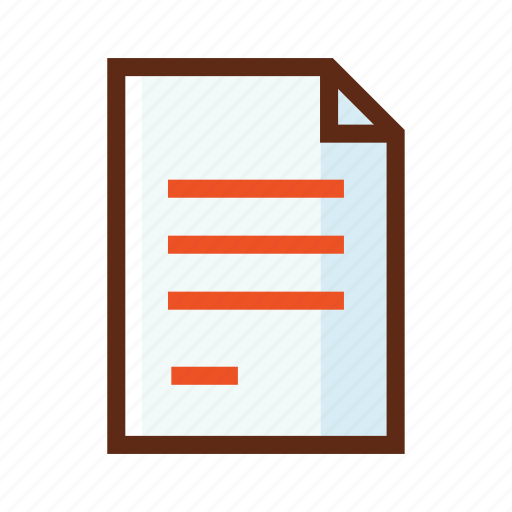 business, colors, contract, document, paper icon