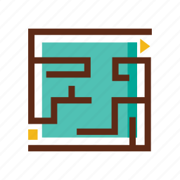 business, colors, finding solution, maze, problem, problem solving, solution icon