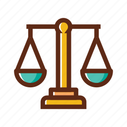 balance, business, colors, libra, weigher icon
