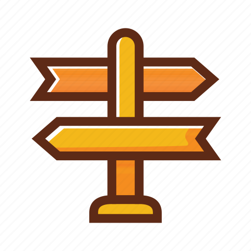 business, colors, decision making, direction icon
