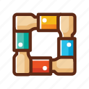 business, colors, hands, hold, partner, teamwork, together icon