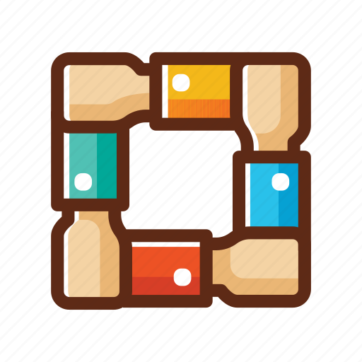 business, colors, hands, hold, partner, teamwork, together icon