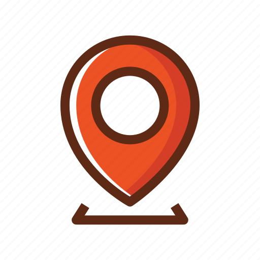 business, colors, find us, gps, location icon