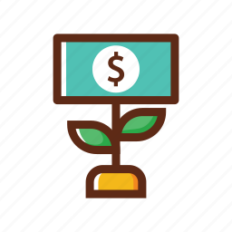 business, colors, growth, money, traffic icon