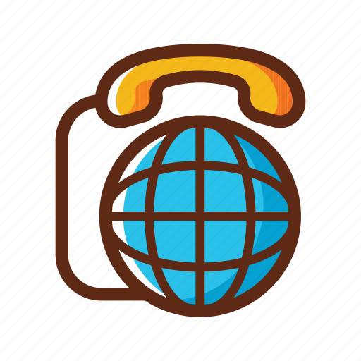 business, colors, communication, global, telephone, wide, world icon