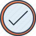 accepted, achievement, box, check, checklist, confirmation, success