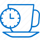break, clock, coffee, cup, lunch, tea, time icon
