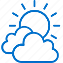 clouds, cloudy, forecast, sun, sunny, temperature, weather