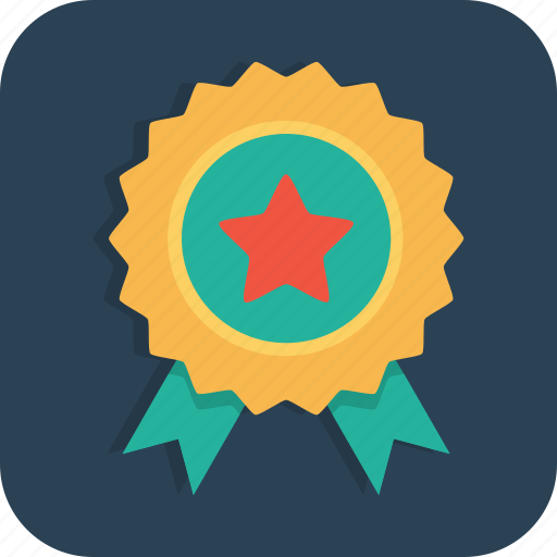 achievement, award, badge, medal, review, star, winner icon