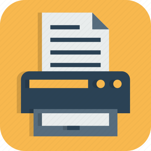 device, document, fax, hardware, office, printer, scanner icon