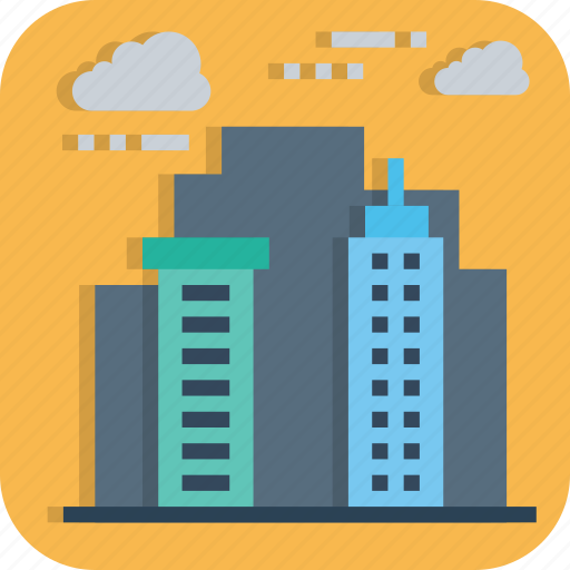 building, business, empire, hotel, hub, office, tower icon