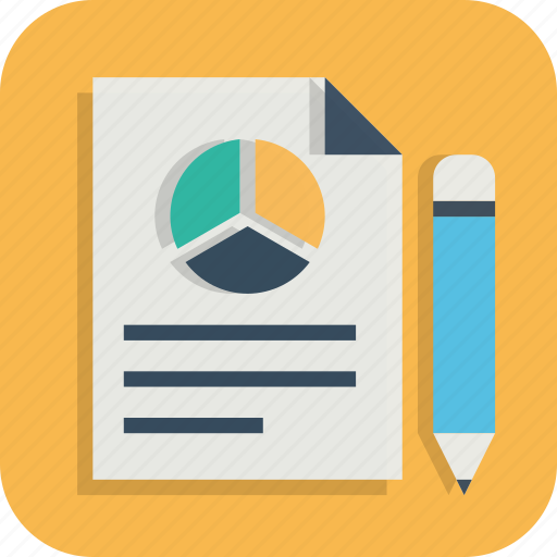 analysis, business, chart, document, idea, paper, pie icon