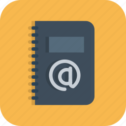 address, book, business, contacts, diary, email, phone icon