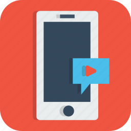chat, conversation, message, mobile, phone, video, youtube icon