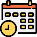 business, calender, date, equipment, essntial, organization, schedule, time, tool icon