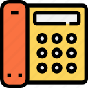 business, communication, equipment, essntial, phone, telephone, tool icon