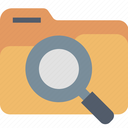 archive, browse, data, find, folder, magnifier, search icon