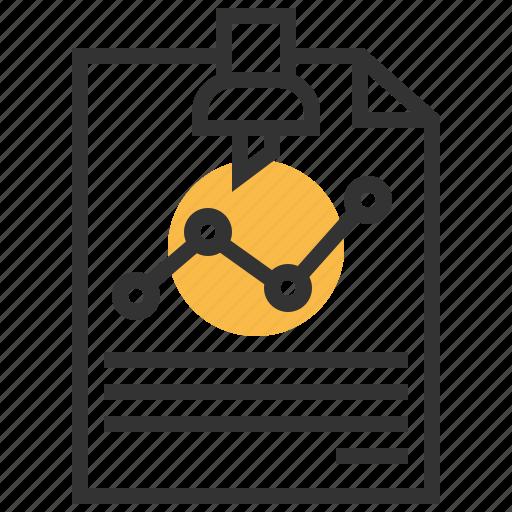 analytics, business, graph, paper, report, seo, statistics icon