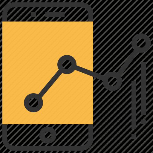 chart, communication, graph, mobile, report, smartphone, statistics icon