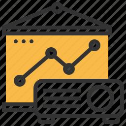 analytics, business, document, finance, presentation, report, statistics icon
