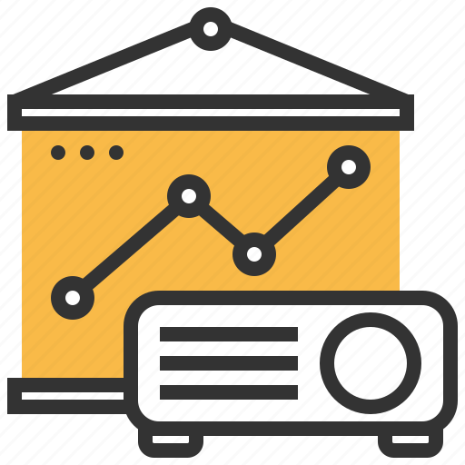 Presentation, statistics, finance, business, analytics, report, document icon