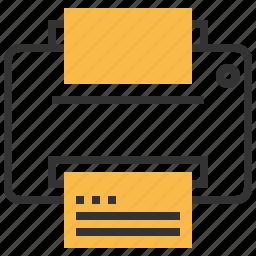 documents, file, paper, print, printer icon