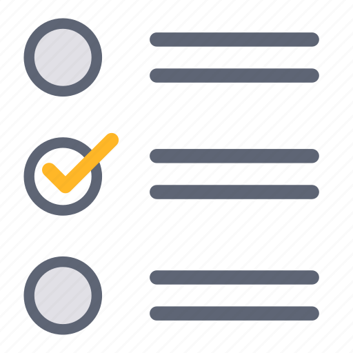 choices, feedback, list, reviews, select, selection, test icon