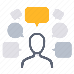 bubbles, comments, customer, feedback, opinion, reviews, voice icon
