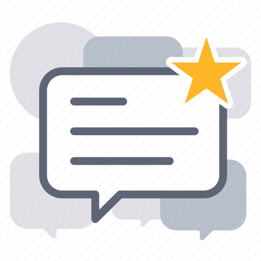 bubble, business, comment, feedback, message, rating, review icon