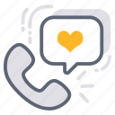 call, customer support, feedback, like, love, phone, review icon