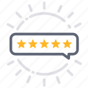 award, excellent, feedback, premium, quality, review, stars icon