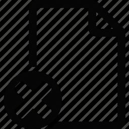 document, erase, file icon