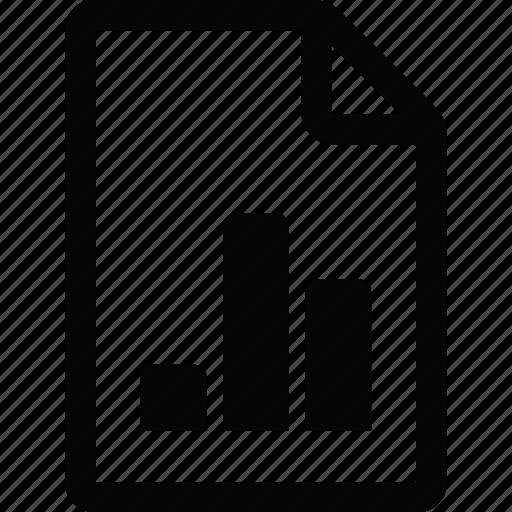 document, file, graph icon