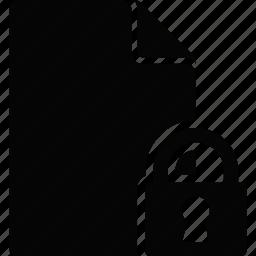 document, file, lock icon